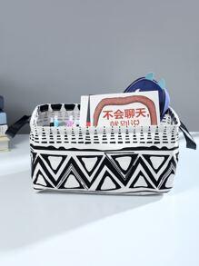 Geometric Pattern Storage Basket