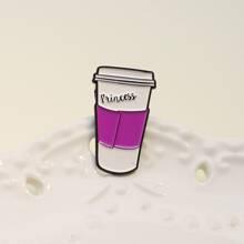 Brosche mit Kaffeetasse Design