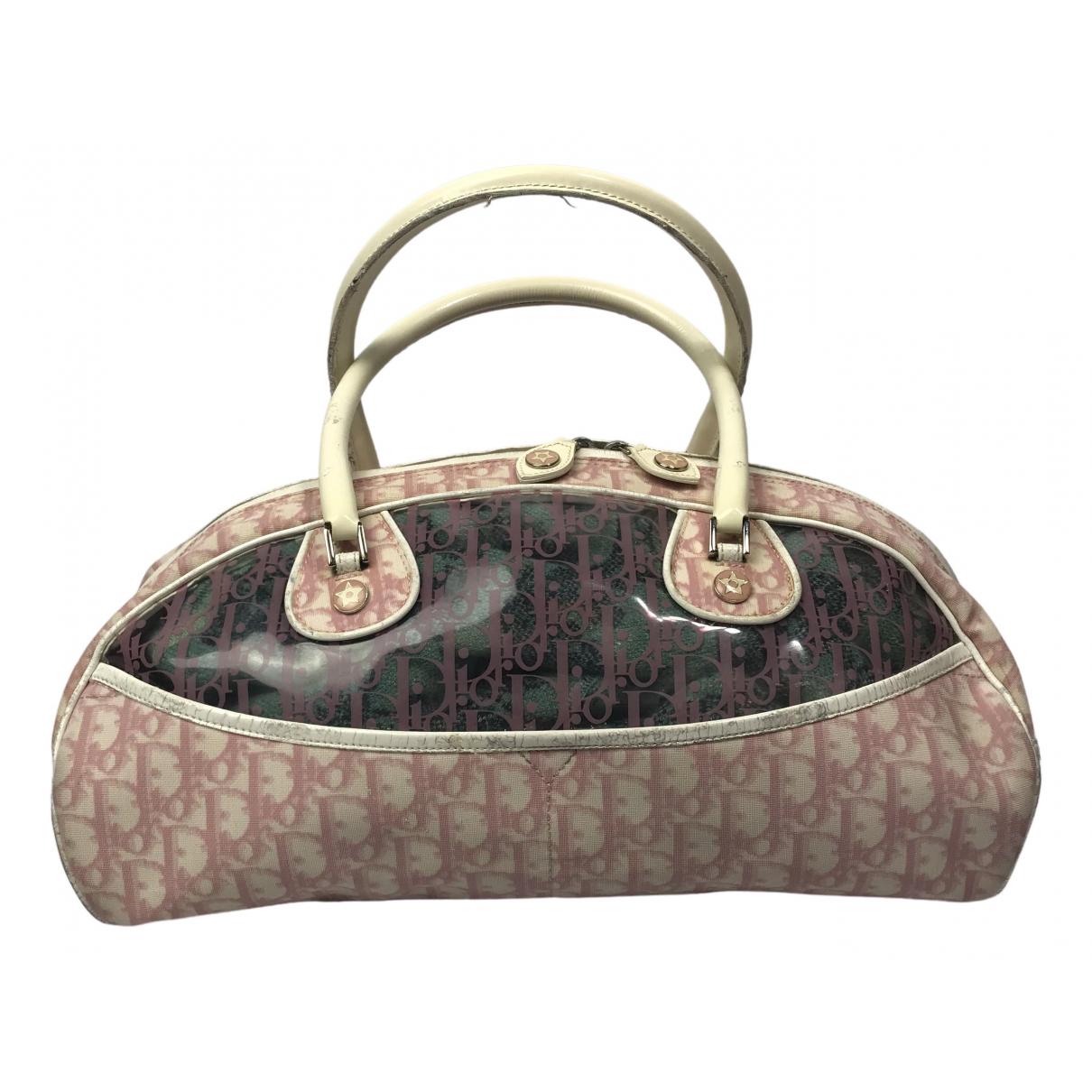 Dior \N Handtasche in  Rosa Leinen