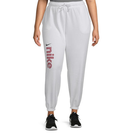 Nike Womens Mid Rise Plus Jogger Pant, 2x , White