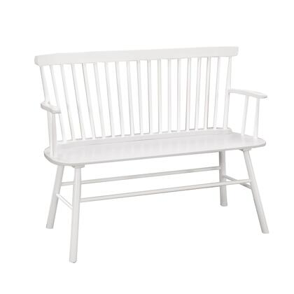 BM215324 Transitional Curved Design Spindle Back Bench with Splayed Legs