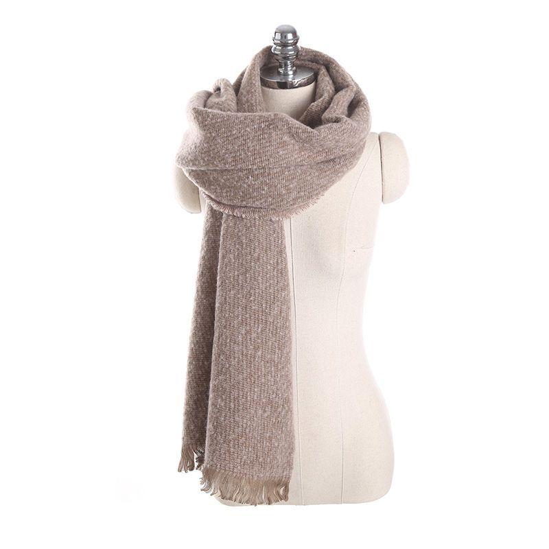 Ericdress Imitation Cashmere Tassel Plain Scarves