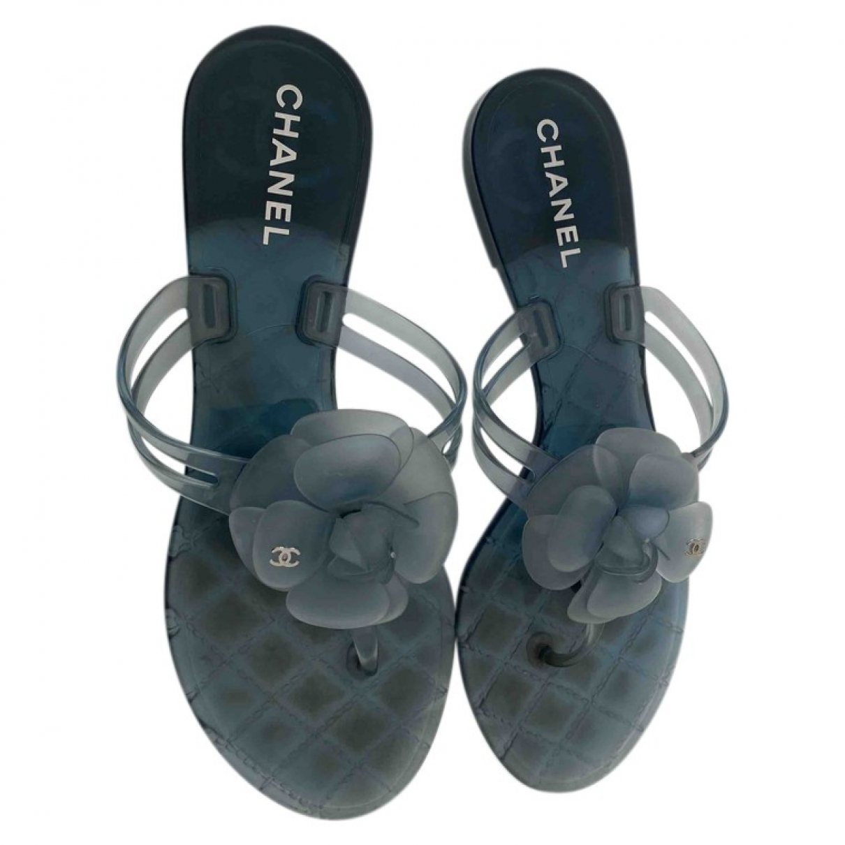 Chanel - Sandales   pour femme en caoutchouc - bleu