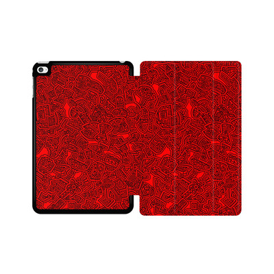 Apple iPad mini 4 Tablet Smart Case - Red Black von Mattartiste
