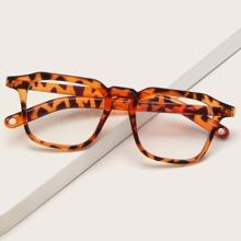 Square Frame Tortoiseshell Glasses