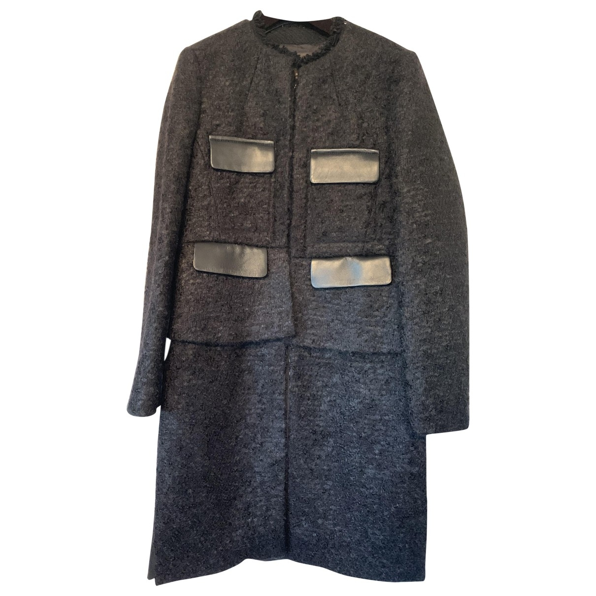Louis Vuitton \N Grey coat for Women 38 FR