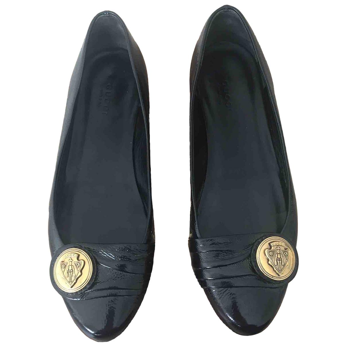 Gucci \N Ballerinas in  Schwarz Leder