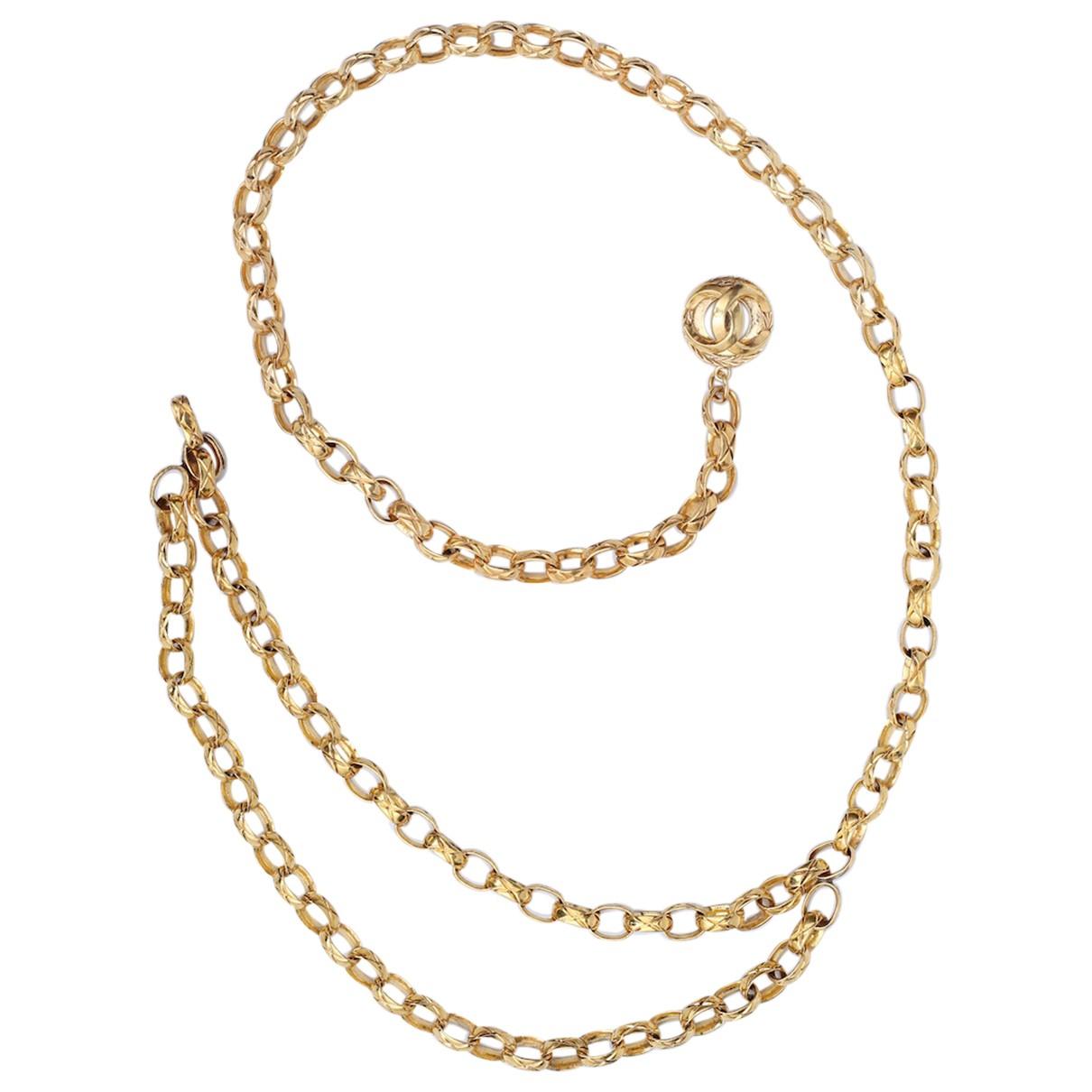 Chanel - Ceinture   pour femme en metal - dore