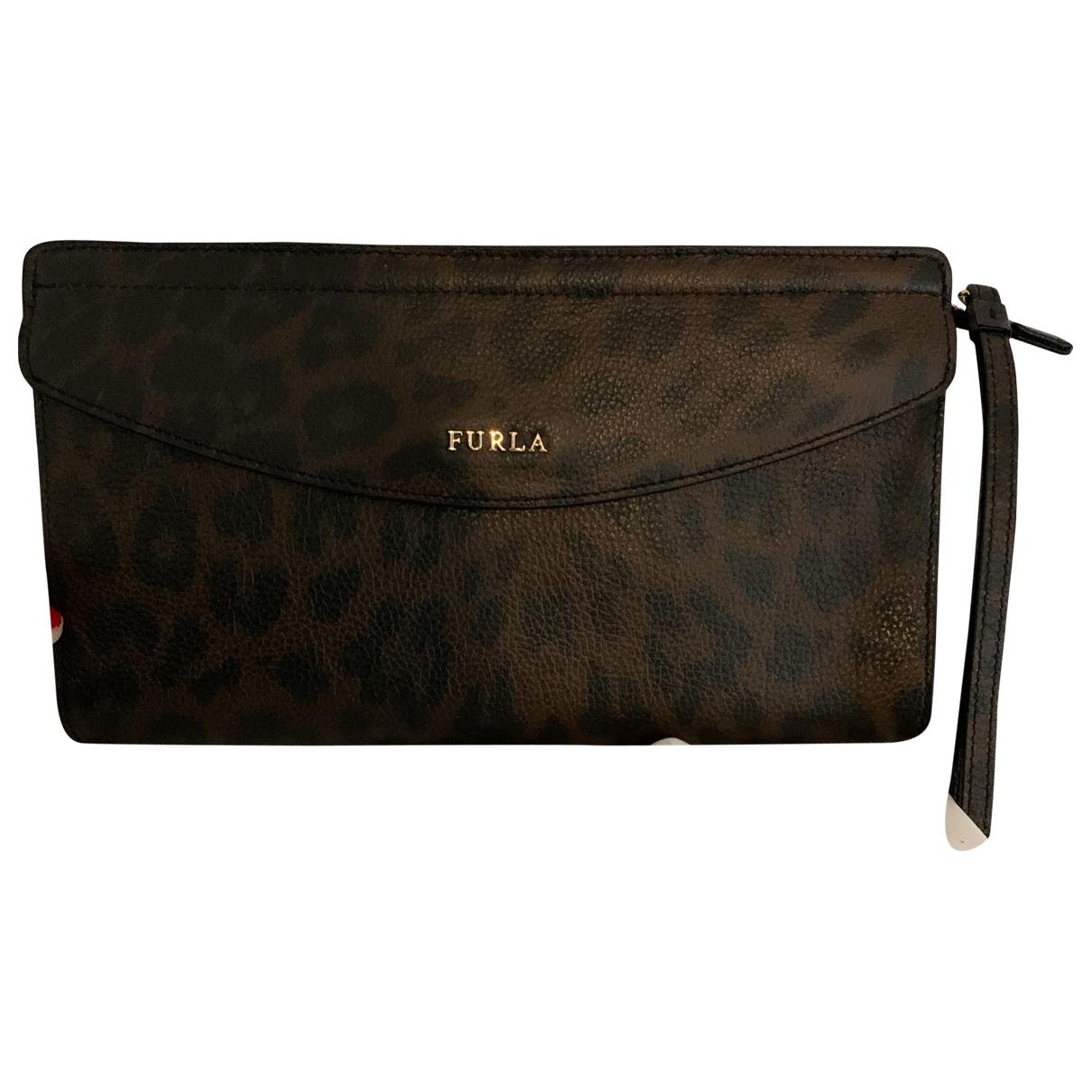 Furla \N Brown Leather Clutch bag for Women \N
