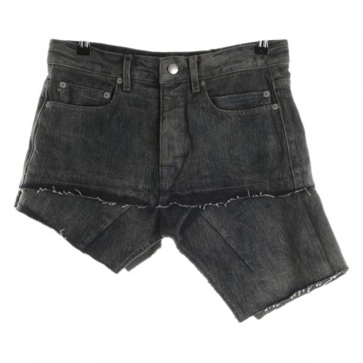 Rick Owens \N Blue Cotton Shorts for Women 36 FR