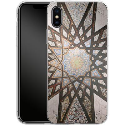 Apple iPhone X Silikon Handyhuelle - Tile Star von Omid Scheybani