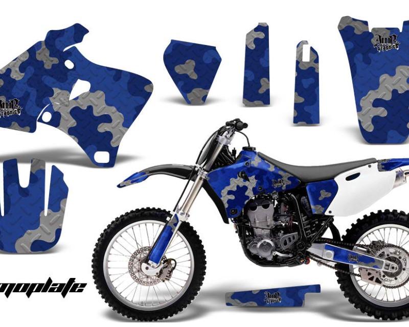 AMR Racing Dirt Bike Graphics Kit Decal Wrap For Yamaha YZ 250F/400F/426F 1998-2002áCAMOPLATE BLUE