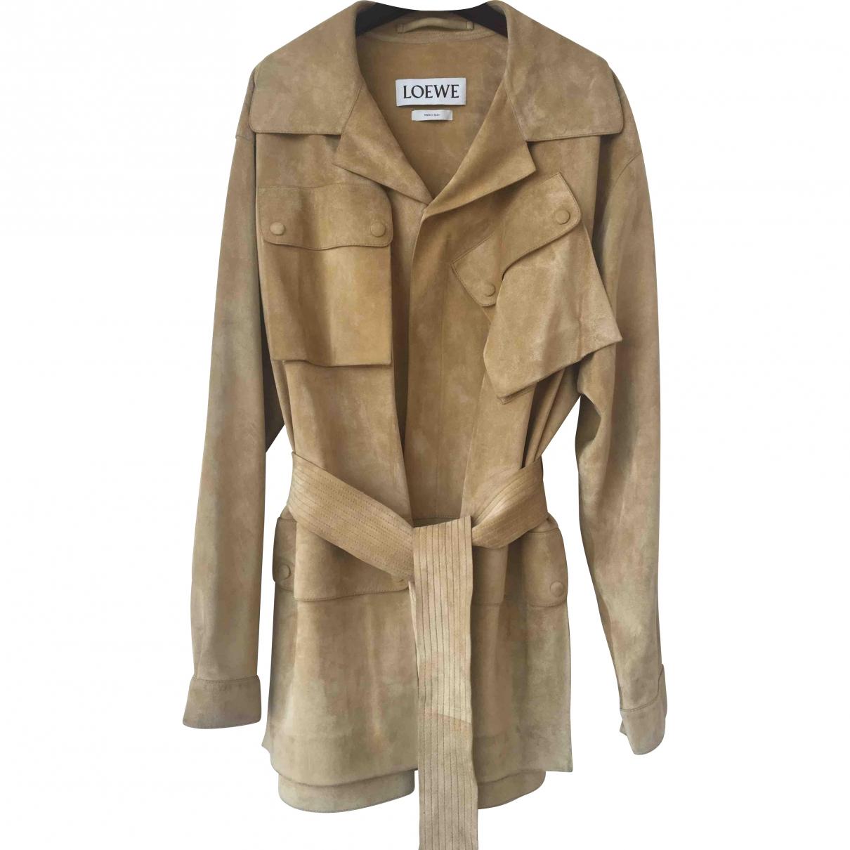 Loewe - Manteau   pour homme en suede - beige