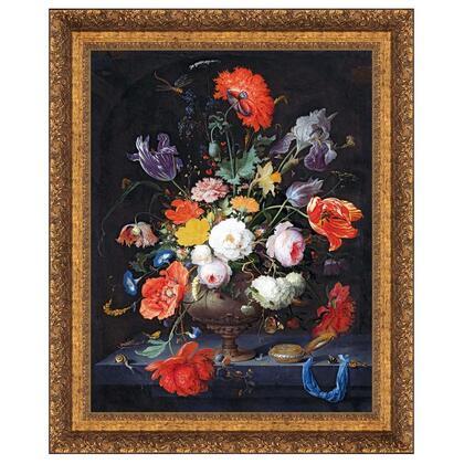 DA4852 24X30 Still Life With Flowers & A Watch