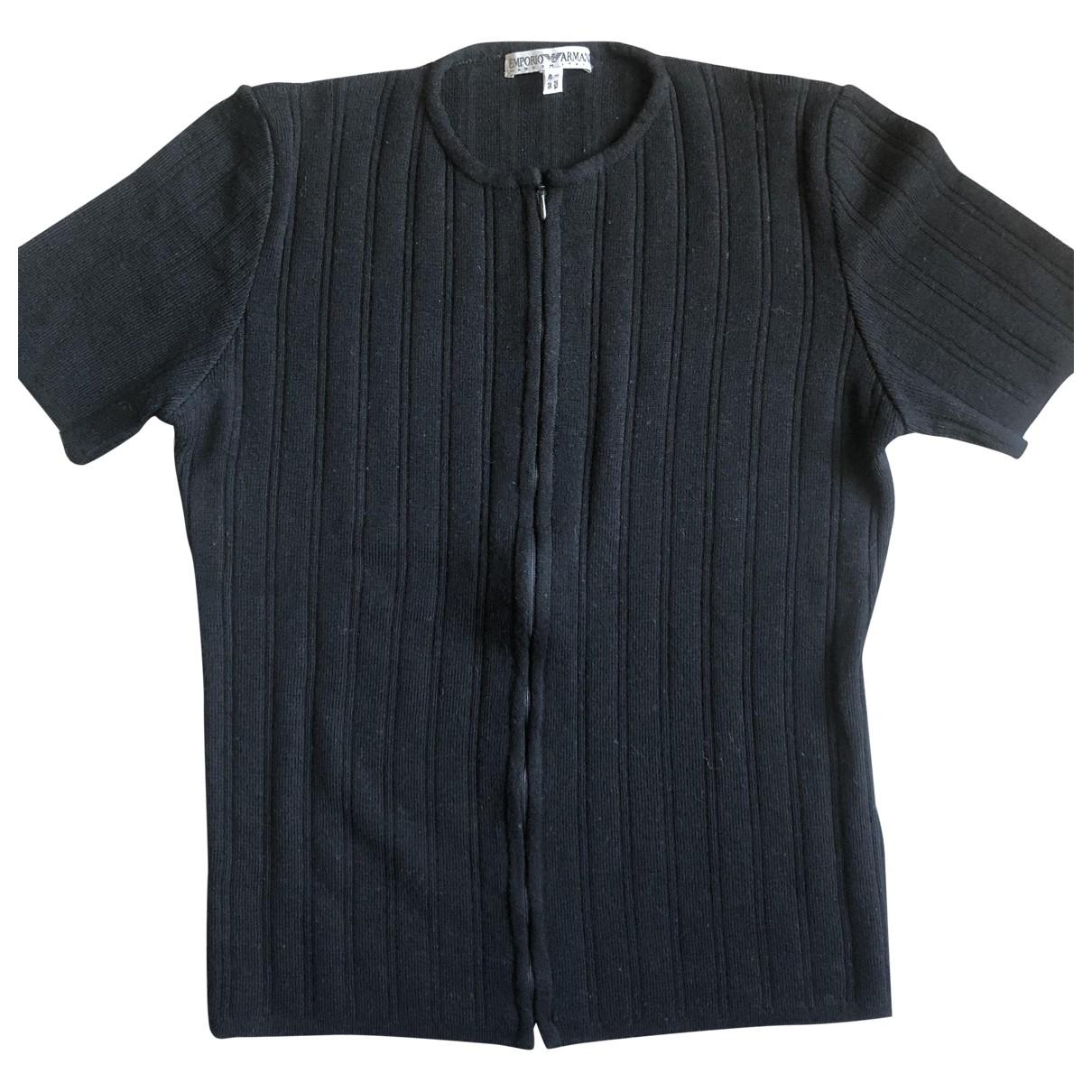 Emporio Armani - Pull   pour femme en laine - noir