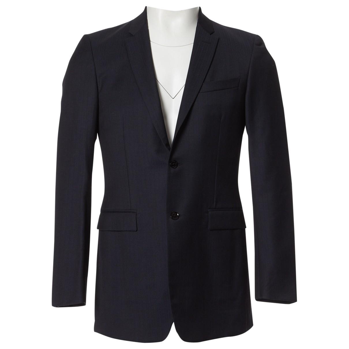 Burberry - Vestes.Blousons   pour homme en laine - noir