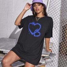 Langelinie T-Shirt mit Herzen Muster