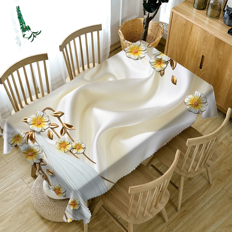 Oilproof European Style Soft Home Use 3D Tablecloth