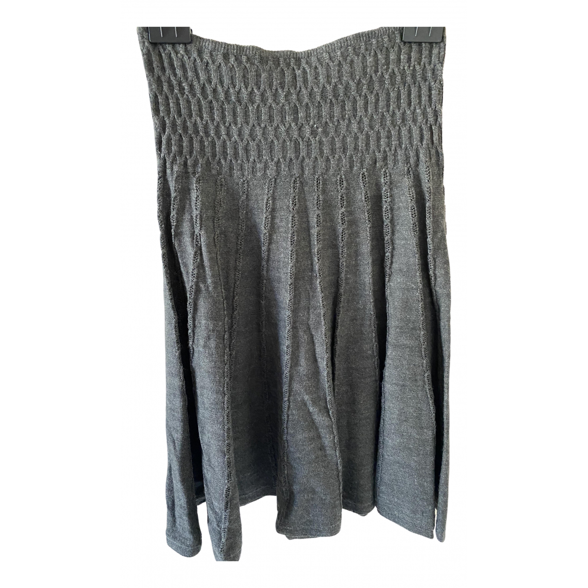Pablo \N Grey Wool skirt for Women 36 FR