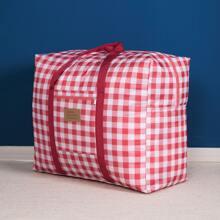 Gingham Pattern Quilt Storage Bag