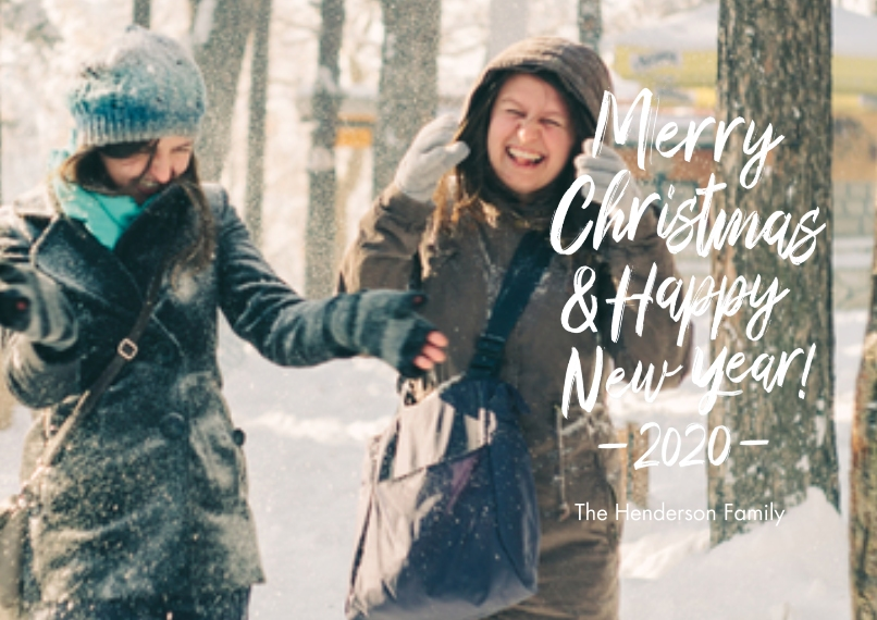 Christmas Photo Cards 5x7 Cards, Premium Cardstock 120lb, Card & Stationery -2020 Merry Christmas & Happy New Year Photo Card by Hallmark