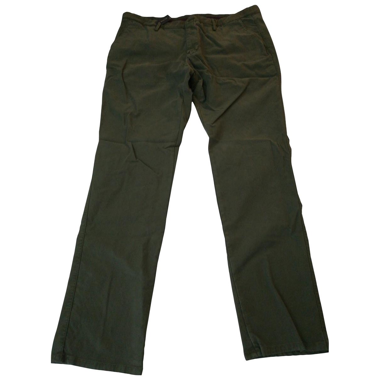 Massimo Dutti \N Khaki Cotton Trousers for Men 38 UK - US