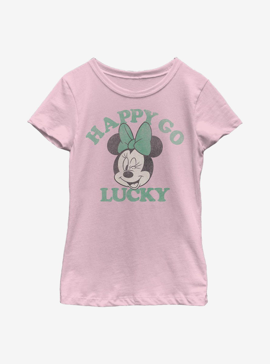 Disney Minnie Mouse Lucky Minnie Youth Girls T-Shirt