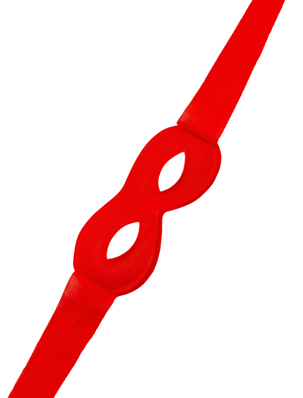 Kostuemzubehor Maske zum Binden rot