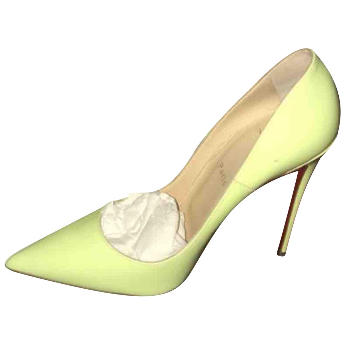Christian Louboutin - Escarpins So Kate  pour femme en cuir verni - jaune