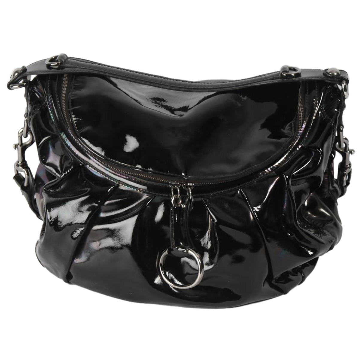 Gucci \N Handtasche in  Schwarz Lackleder