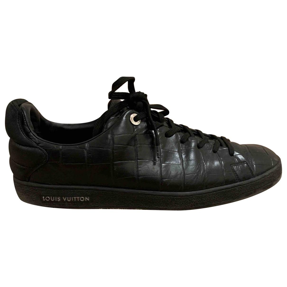 Louis Vuitton Frontrow Black Leather Trainers for Men 44 EU