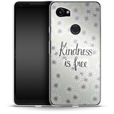 Google Pixel 2 XL Silikon Handyhuelle - Kindness is Free von Barlena
