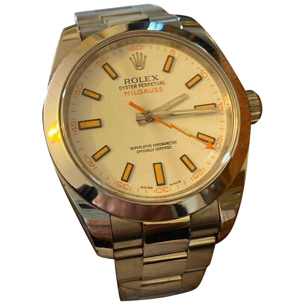 Rolex Milgauss Uhr in  Weiss Stahl