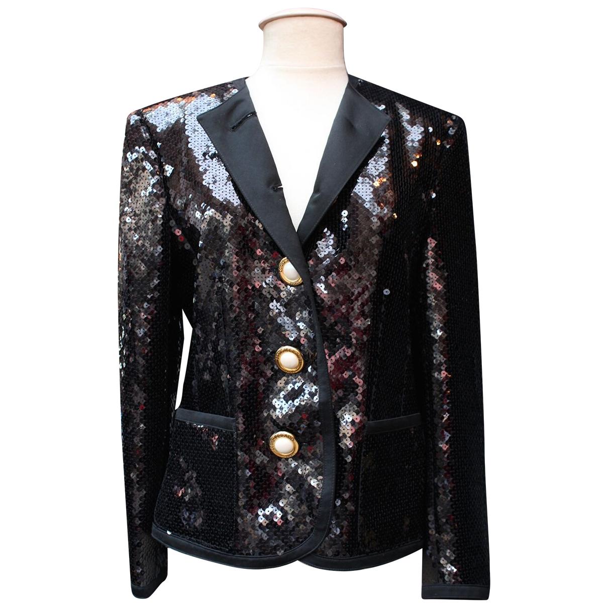 Louis Feraud \N Black Glitter jacket for Women 40 FR