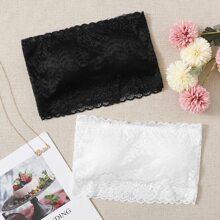 2pack Floral Lace Bandeau Set