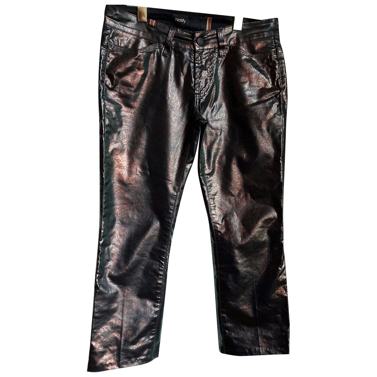 Notify \N Black Cotton Trousers for Women 42 IT
