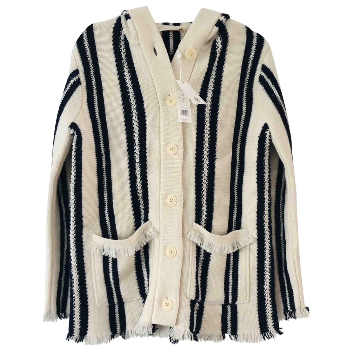 Tory Burch - Manteau   pour femme en lin - multicolore