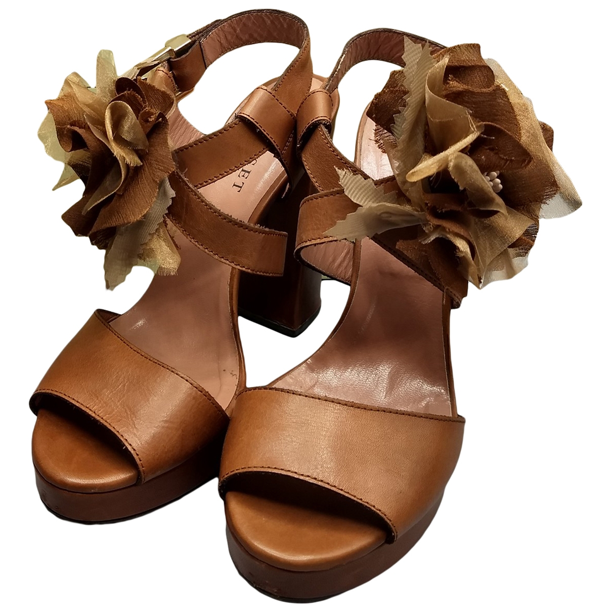 Twin Set \N Brown Leather Sandals for Women 40 EU