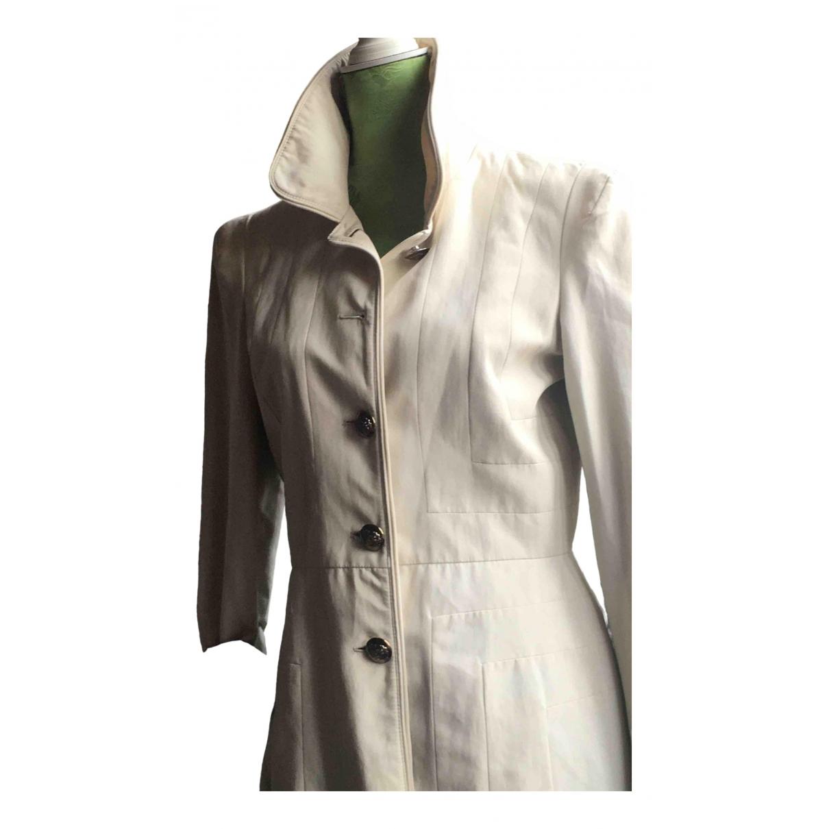 Burberry \N White Cotton coat for Women M International