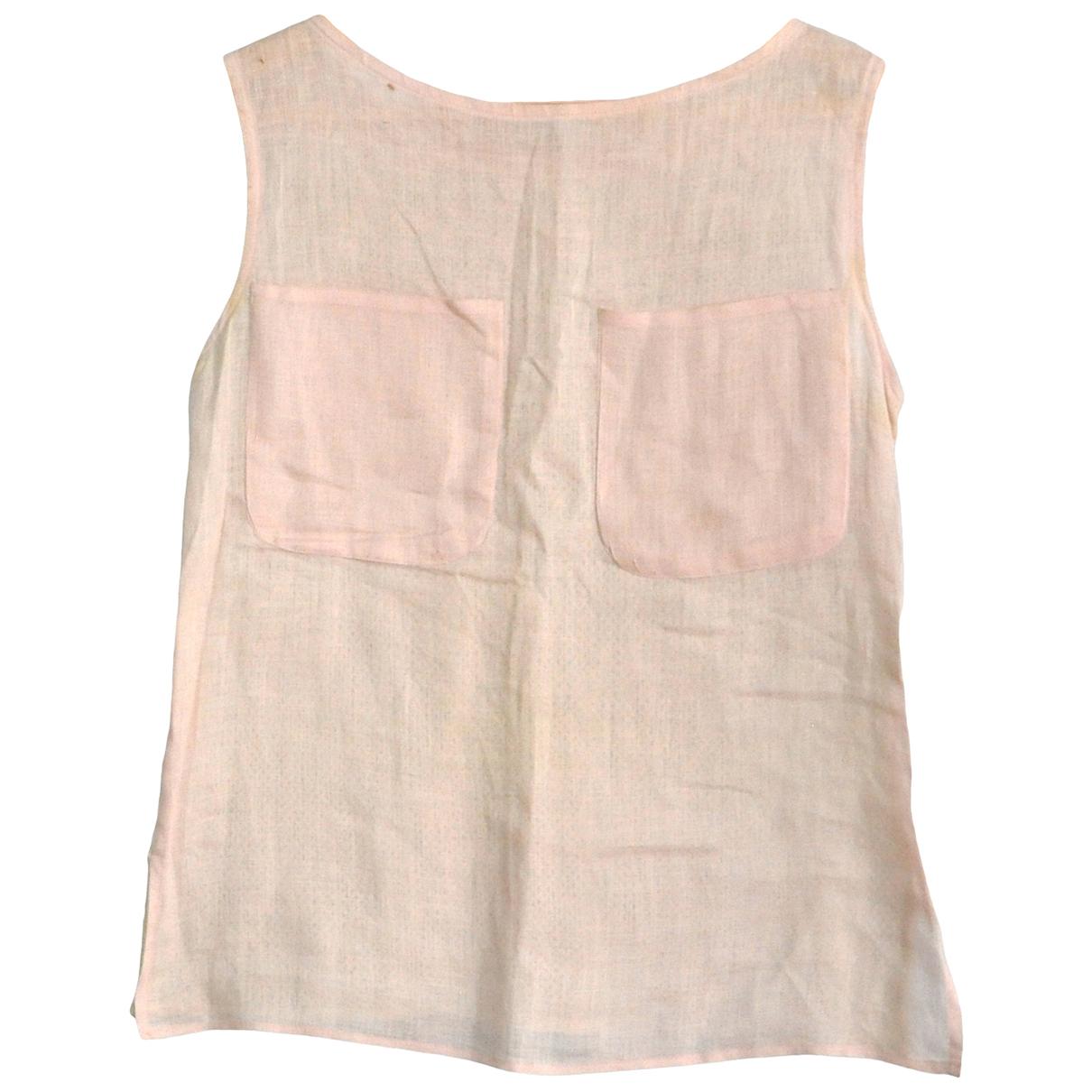 Valentino Garavani - Top   pour femme en lin - rose
