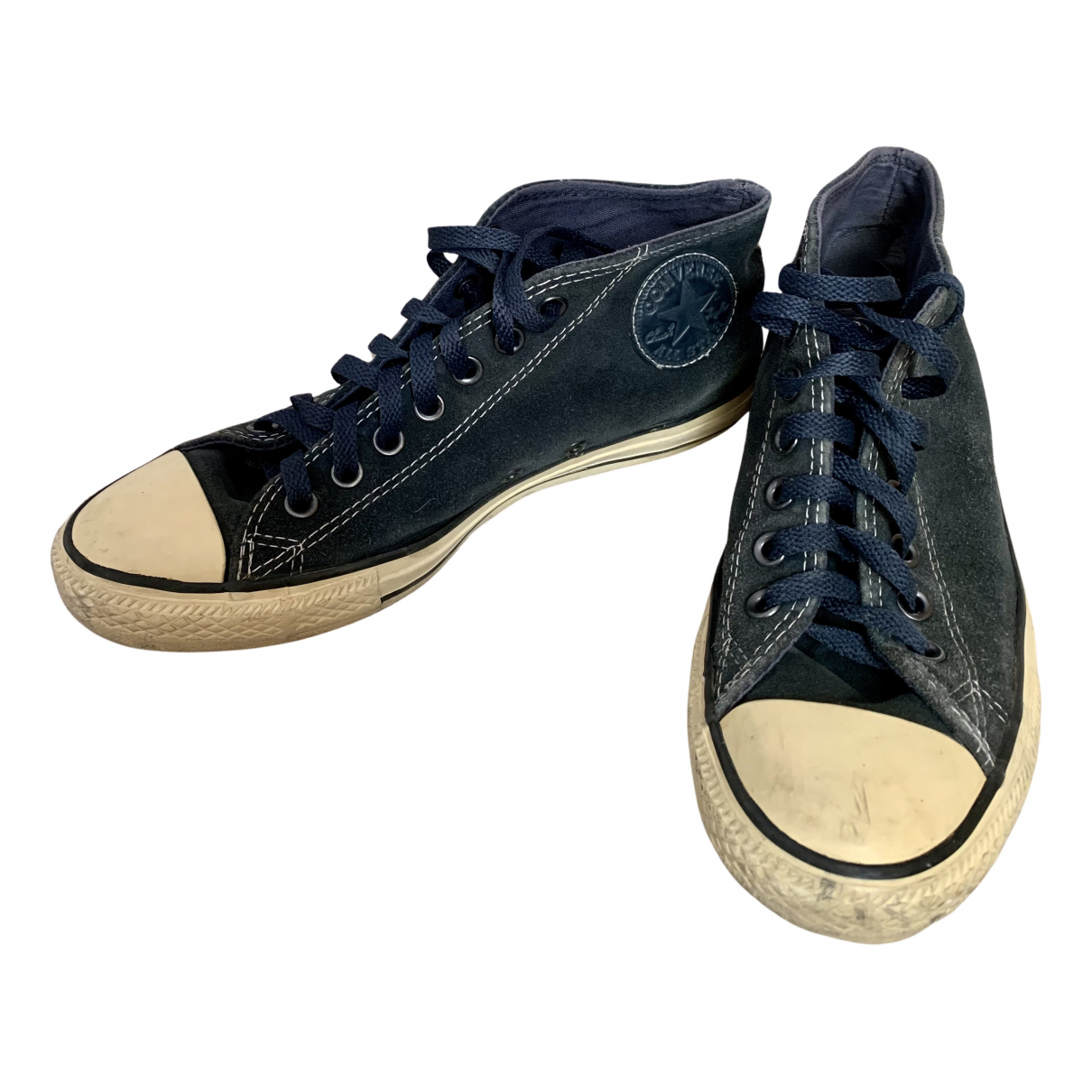 Converse N Blue Suede Trainers for Women 40 IT