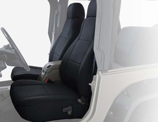 Overland Vehicle System 11010601 Neoprene Seat Covers Black Black Jeep Wrangler 03-06