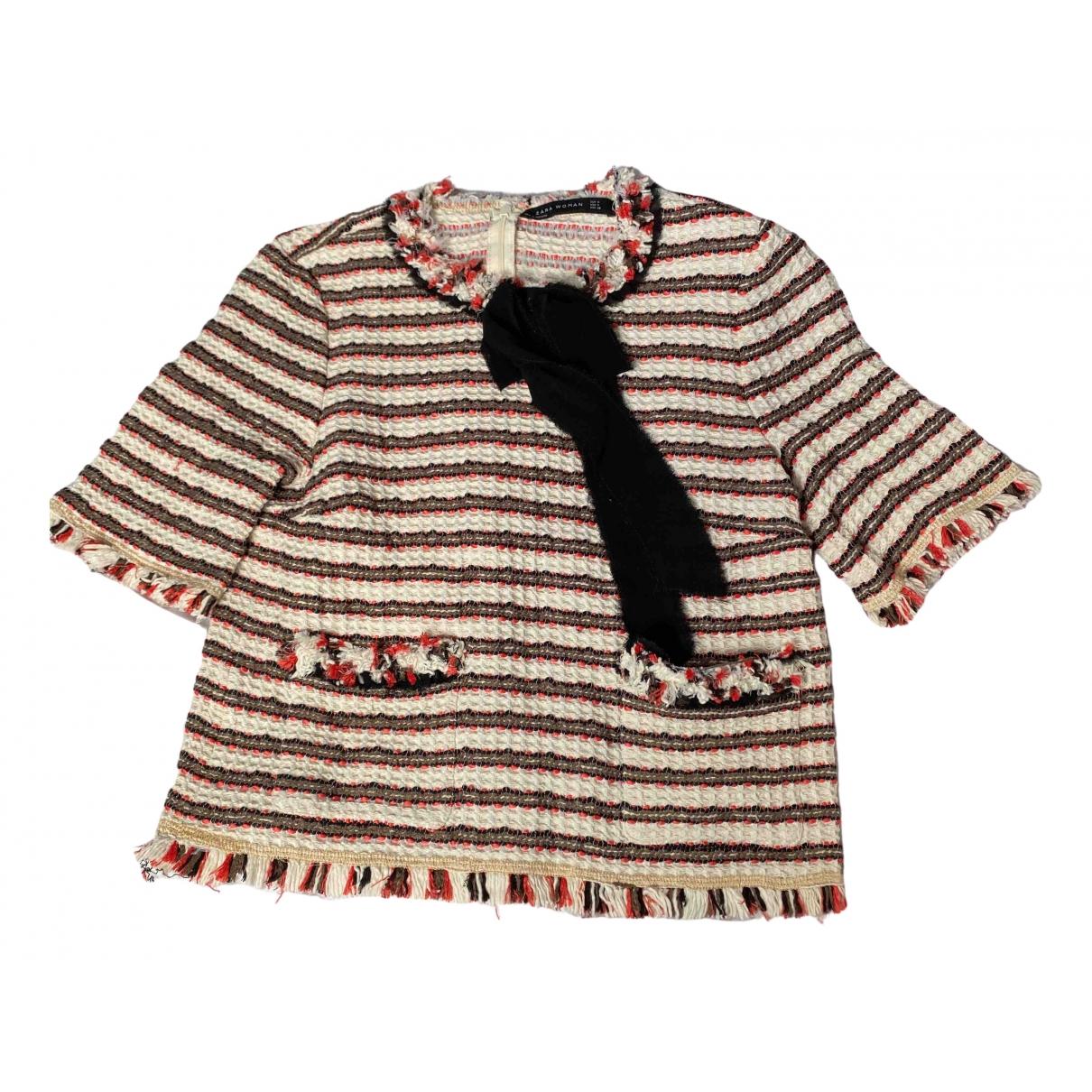 Zara \N Beige Tweed  top for Women 38 FR