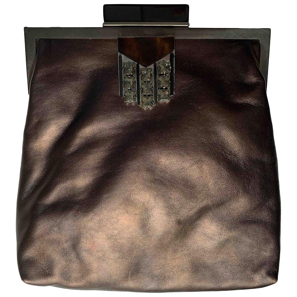 Marni - Pochette   pour femme en cuir - marron