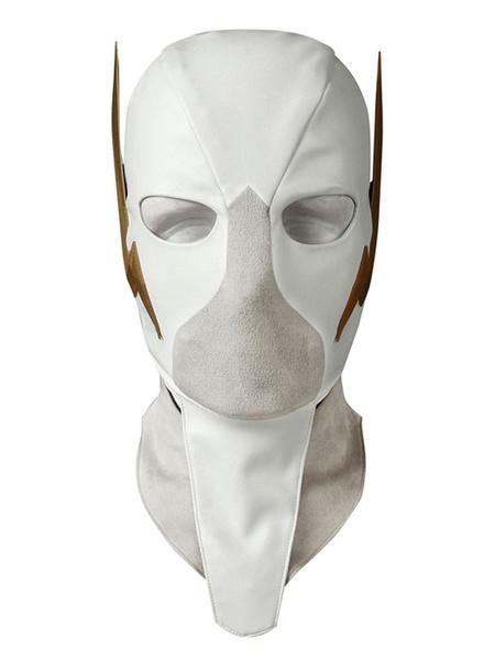 Milanoo Halloween Carnaval The Flash Cosplay Mask Godspeed August Hart White DC Comics Cosplay Gorra