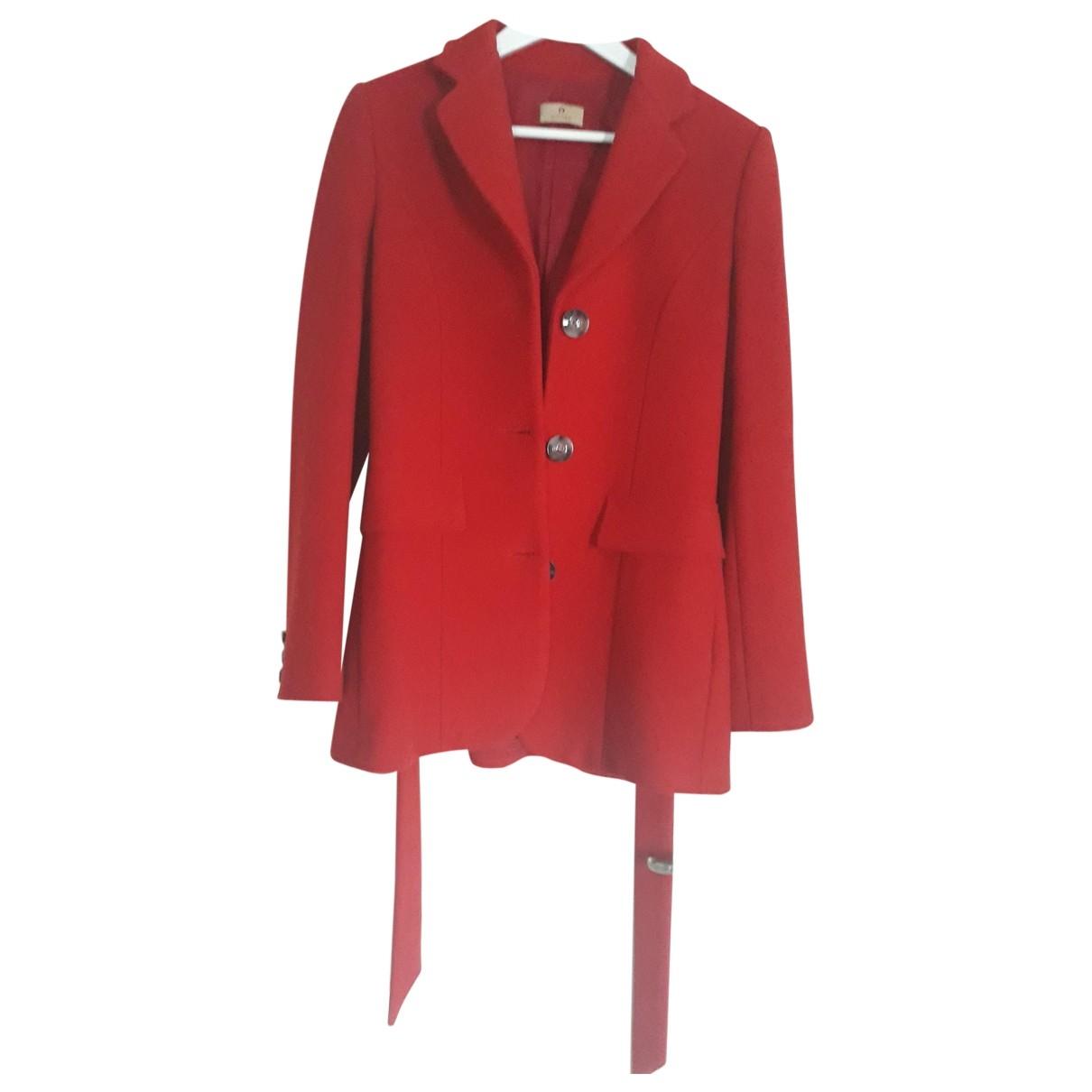 Aigner - Manteau   pour femme en laine - rouge