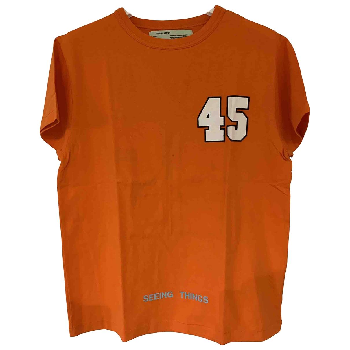 Off-white \N Orange Cotton T-shirts for Men XS International
