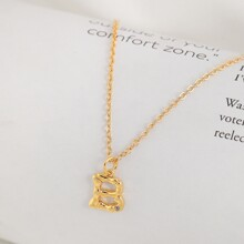 B Charm Rolo Chain Necklace