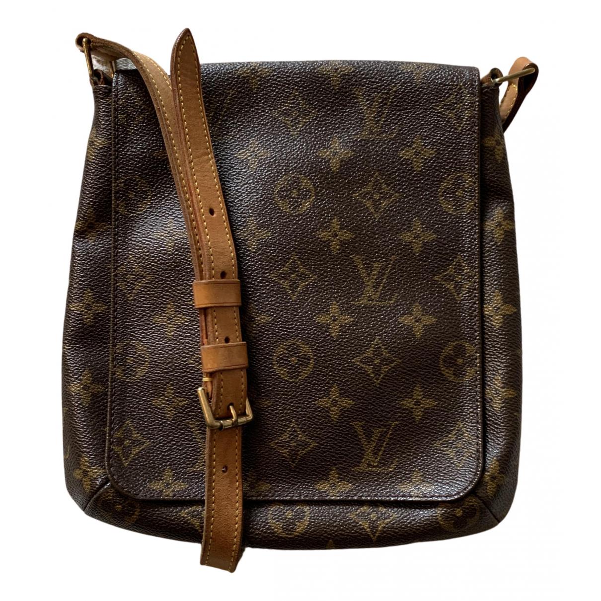 Louis Vuitton - Sac a main Musette pour femme en toile - marron