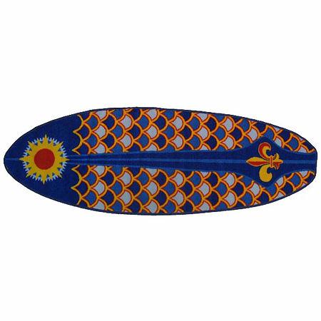 Laguna Surf Rectangular Indoor Rugs, One Size , Blue